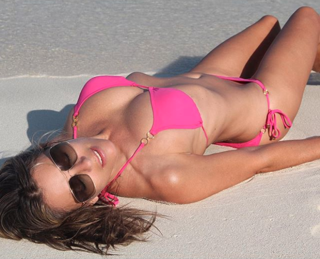 Liz runs her own swimwear line and is known for posting pictures of the clothes on her Instagram. Photo: Instagram/Elizabeth Hurley