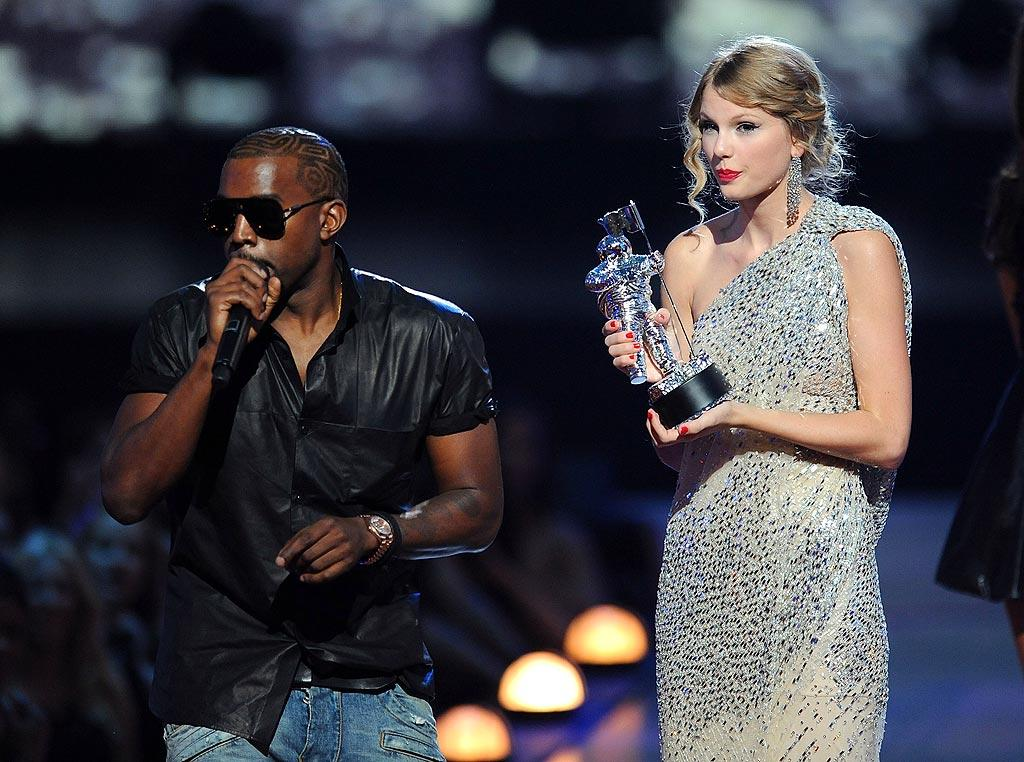 """ShowBiz Spy reports Taylor Swift is still """"furious"""" with Kanye West, a full year after his outrageous outburst at the MTV Video Music Awards. West has recently been chatting about Swift on Twitter, even tweeting, """"I'm sorry Taylor."""" According to the website, however, Swift is """"fed up"""" with the singer and that he's using her name to promote his new album. Find out just how angry she still is over at <a href=""""http://www.gossipcop.com/taylor-swift-kanye-west-furious-upset-tweets-tweet-twitter-mtv-vmas-vma/"""" target=""""new"""">Gossip Cop.</a> Kevin Mazur/<a href=""""http://www.wireimage.com"""" target=""""new"""">WireImage.com</a> - September 13, 2009"""