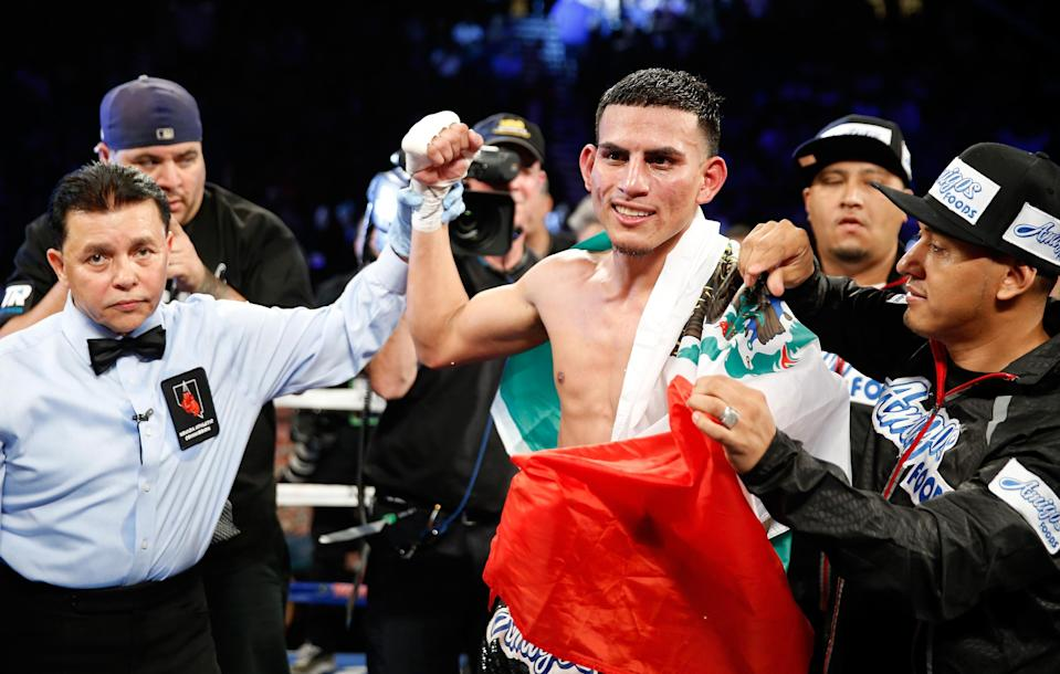 Former world champion Jose Benavidez will fight Matthew Strode on Saturday in Corpus Christi, Texas, his first bout since being shot while walking his dog in 2016. (Getty Images)