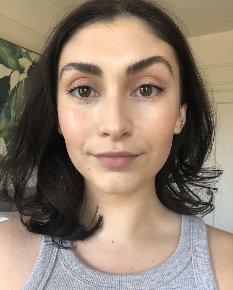 <p>I might be imagining things, but I have to say the right side of my face, which is the side I used the new TikTok makeup method on, looks lightly more lifted than the left. (Maybe? Is it just me?)</p> <p>The right may look a tad more contoured, but regardless, I think both sides still look good. For the time being, I'm going to adapt this concealer hack permanently into my makeup routine just because I like the fresher, minimal-coverage look.</p>