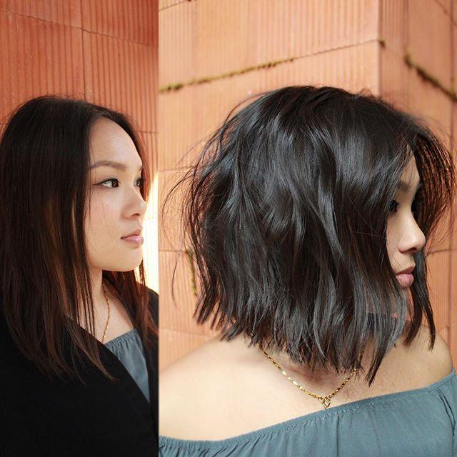 """<p>Stylist Marisa Mitchell encourages women with thin hair to consider taking their cut shorter as well. """"I recommend a shorter bob that's above the shoulder and cut very blunt,"""" says Mitchell. """"This draws people's eyes to the line and creates the appearance of fullness.""""</p><p><a href=""""https://www.instagram.com/p/BxZ5vbWhqDM/"""" rel=""""nofollow noopener"""" target=""""_blank"""" data-ylk=""""slk:See the original post on Instagram"""" class=""""link rapid-noclick-resp"""">See the original post on Instagram</a></p>"""