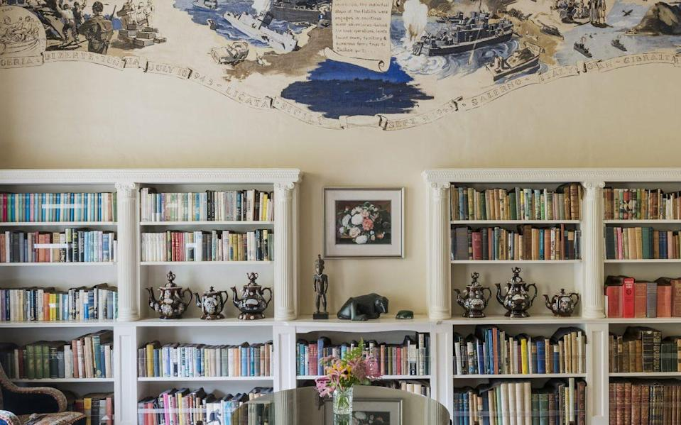 Agatha Christie's library at Greenway House in Devon - National Trust