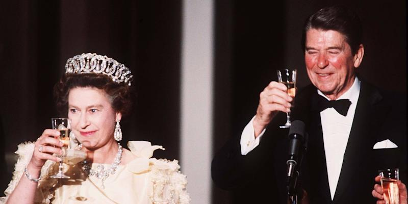 queen elizabeth ii ronald reagan
