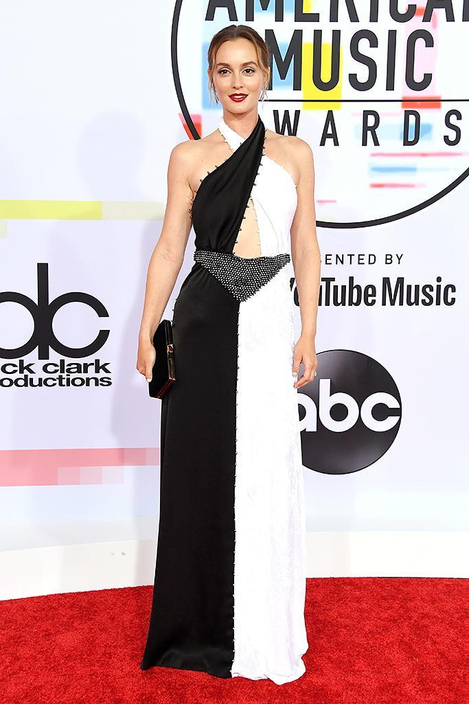 <p>Leighton Meester attends the 2018 American Music Awards at Microsoft Theater on October 9, 2018 in Los Angeles, California. (Photo by Steve Granitz/WireImage) </p>