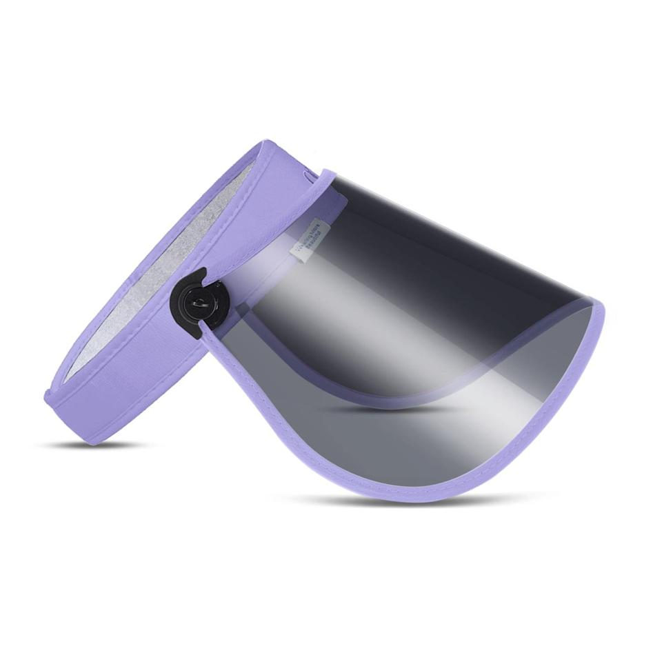 <p>Embrace those lovely lavendar vibes with the <span>Adjustable Sun Visor UV Protection Face Shield</span> ($16, originally $30). It has a UPF rating of 50+ and is lightweight. When you are not using it, you can roll it up and store it in your bag.</p>
