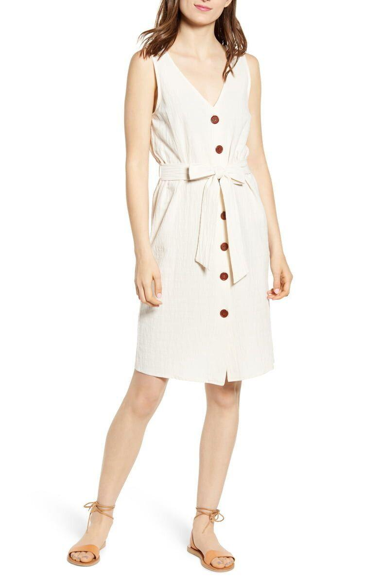 One Clothing Belted Button Front Dress (Photo: Nordstrom)