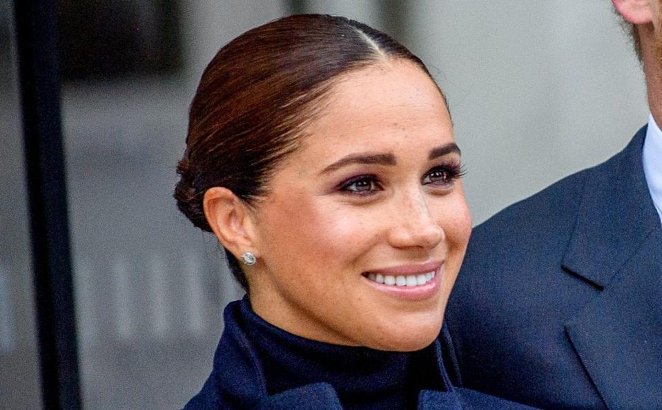 The Duchess of Sussex debuted a sleek and sophisticated post-royal look in New York, with an impressive selection of jewellery - Getty Images North America