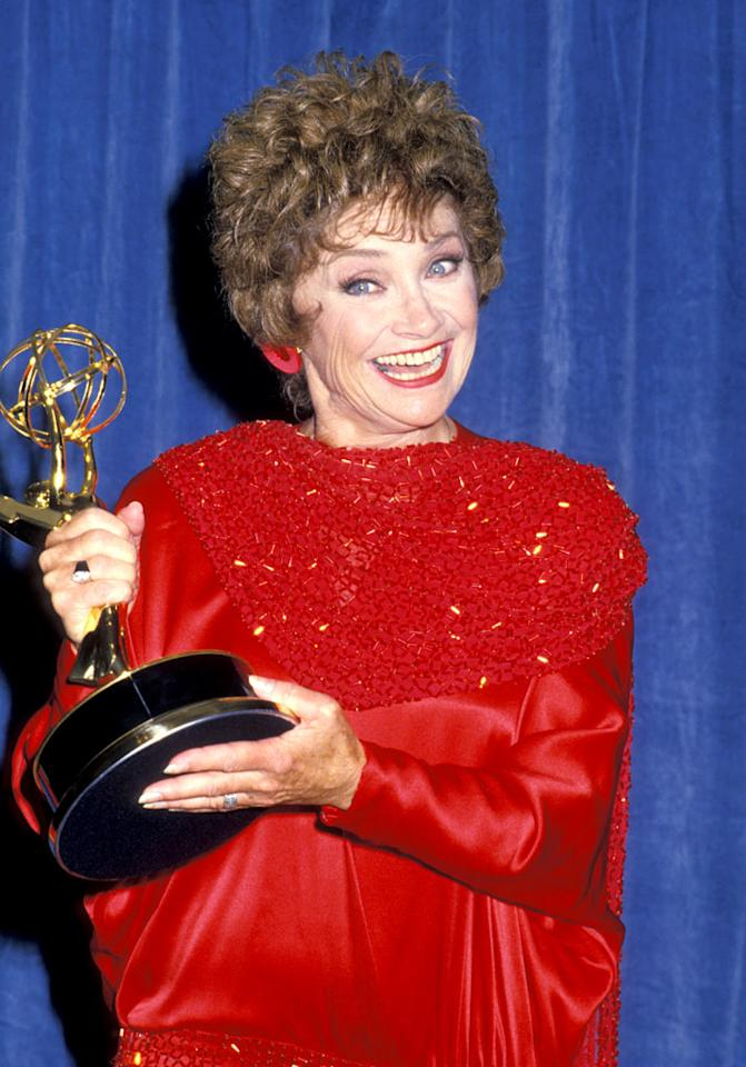 """We're still devastated by the passing of """"Golden Girl"""" Estelle Getty. Luckily, the sassy Sicilian Sophia Petrillo lives on thanks to reruns on Lifetime. Jim Smeal/<a href=""""http://www.wireimage.com"""" target=""""new"""">WireImage.com</a> - August 8, 1988"""