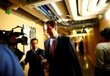 U.S. House Permanent Select Committee on Intelligence Chairman Representative Devin Nunes arrives at a House of Representatives conference meeting on Capitol Hill