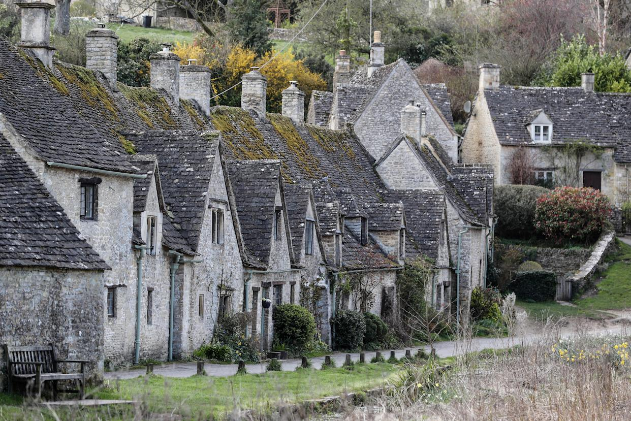 Arlington Row in the village of Bibury, Gloucestershire. (Photo by David Davies/PA Images via Getty Images)