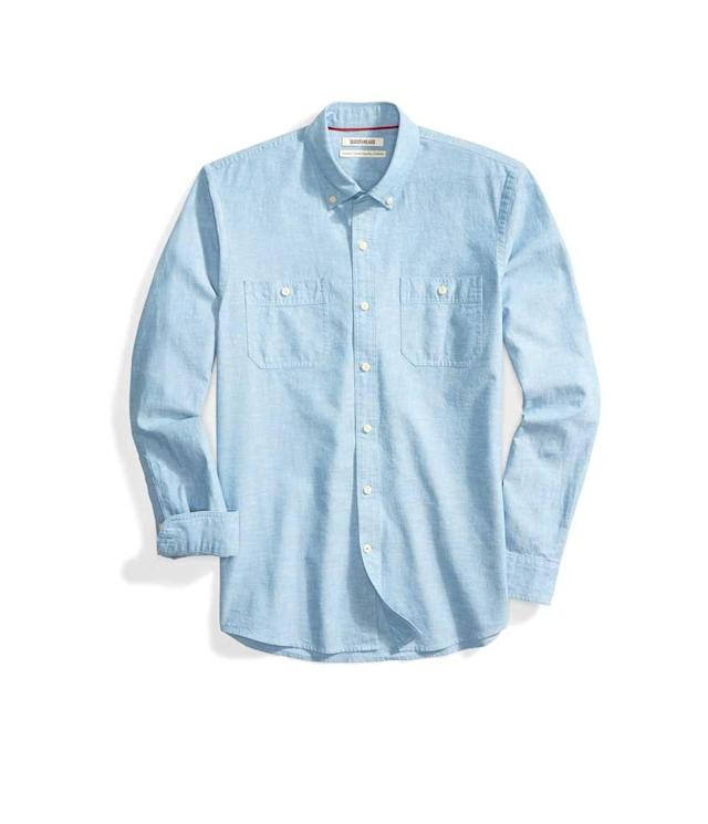 "<p>Men's Standard-Fit Long-Sleeve Chambray Shirt, $30 + up to 50% off, <a href=""https://www.amazon.com/Goodthreads-Standard-Fit-Long-Sleeve-Chambray-X-Large/dp/B0773BL5MG/ref=sr_1_1?s=apparel&ie=UTF8&qid=1531258436&sr=1-1&nodeID=7147441011&psd=1&keywords=goodthreads+men%27s+standard-fit+long-sleeve+chambray+shirt"" rel=""nofollow noopener"" target=""_blank"" data-ylk=""slk:amazon.com"" class=""link rapid-noclick-resp"">amazon.com</a> </p>"