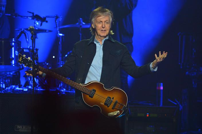 Sir Paul McCartney performs live on stage at the O2 Arena during his 'Freshen Up' tour, on December 16, 2018 in London, England. (Photo by Jim Dyson/Getty Images)