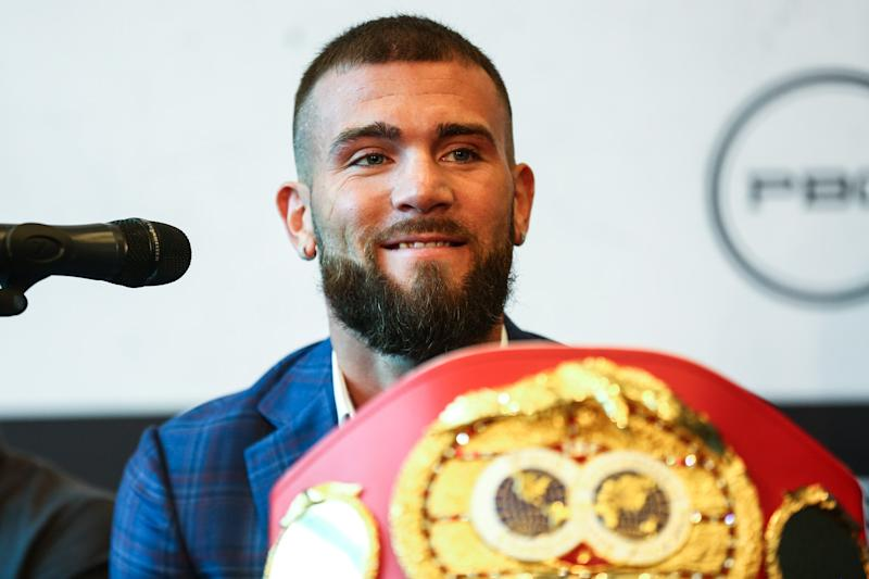 Unbeaten IBF super middleweight champion Caleb Plant. (Stephanie Trapp/TGB Promotions)