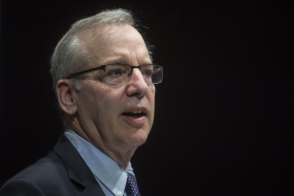 President of the Federal Reserve Bank of New York, Bill Dudley speaks during the Bank of England Markets Forum 2018 event at Bloomberg in central London on May 24, 2018. (Photo by Victoria Jones / POOL / AFP)        (Photo credit should read VICTORIA JONES/AFP/Getty Images)