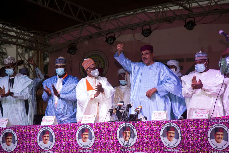 FILE PHOTO: Niger ruling party's Bazoum declared winner of presidential election