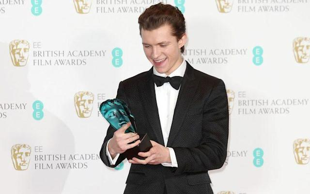 Tom Holland won a Rising Star award in the 2017 BAFTAs. (Photo: Getty Images)