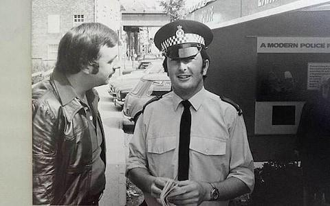 Trevor as a young PC in Hungerford in the 80s - Credit: Telegraph/John Lawrence