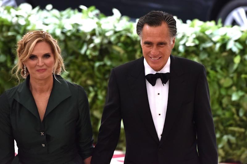 Ann and Mitt Romney at the Metropolitan Museum's Costume Institute Gala.