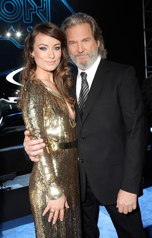 """<a href=""""http://movies.yahoo.com/movie/contributor/1808489542"""">Olivia Wilde</a> and <a href=""""http://movies.yahoo.com/movie/contributor/1800011634"""">Jeff Bridges</a> attend the Los Angeles premiere of <a href=""""http://movies.yahoo.com/movie/1810096458/info"""">TRON: Legacy</a> on December 11, 2010."""