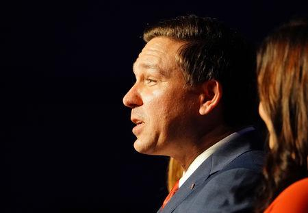 FILE PHOTO: Republican gubernatorial candidate Ron DeSantis speaks at his midterm election night party in Orlando