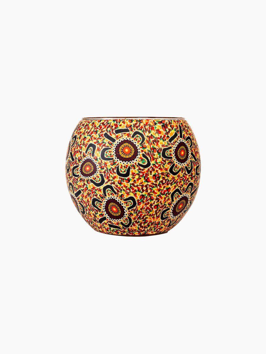 """<p>kohliving.com.au</p><p><strong>$29.95</strong></p><p><a href=""""https://kohliving.com.au/collections/home-decor/products/aboriginal-bush-tucker-tealight-candle-holder"""" rel=""""nofollow noopener"""" target=""""_blank"""" data-ylk=""""slk:Shop Now"""" class=""""link rapid-noclick-resp"""">Shop Now</a></p><p>Best friends Tui and Nyree are the faces behind the sustainable brand Koh Living. Most of the work featured in their shop is done in collaboration with local Indigenous groups within Australia.</p>"""