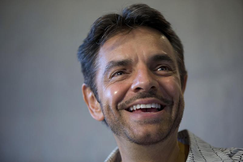 "In this Oct. 16, 2013 photo, Mexican comedian Eugenio Derbez smiles during an interview in Mexico City. The Mexican writer, director and star of the surprise Hollywood hit ""Instructions Not Included"" was a virtual unknown among the general audience in the U.S., where the film debuted on Labor Day weekend. He said the idea for the movie came to him 12 years ago but he couldn't get the money to do it until recently. (AP Photo/Dario Lopez-Mills)"