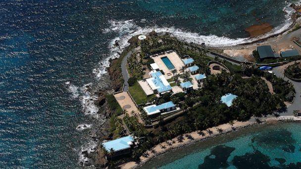PHOTO: Facilities at Little St. James Island, one of the properties of financier Jeffrey Epstein, are seen in an aerial view, near Charlotte Amalie, St. Thomas, U.S. Virgin Islands, July 21, 2019. (Marco Bello/Reuters, FILE)
