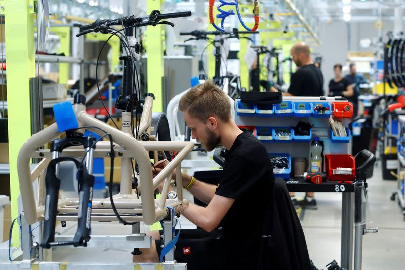 FILE PHOTO: Electric bicycle production at Riese & Mueller factory