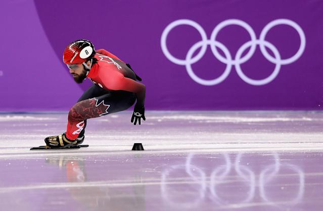 Canada's Charles Hamelin sets new Olympic record in Day 4 heat.