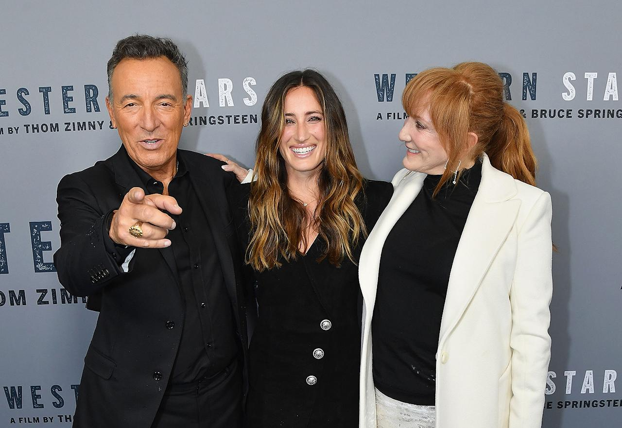 <p>Bruce's wife and daughter stood beside him to celebrate his directorial debut in October 2019. After the singer dropped his 19th studio album last June, he released a concert film of the same name. </p>
