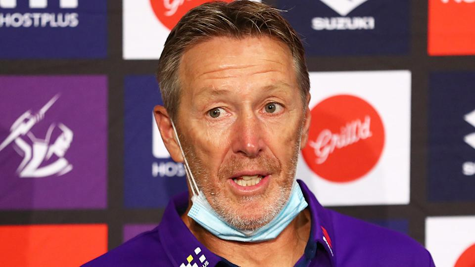 Melbourne Storm coach Craig Bellamy says it would be 'ridiculous' if referees started handing out more sin-bins. (Photo by Mike Owen/Getty Images)