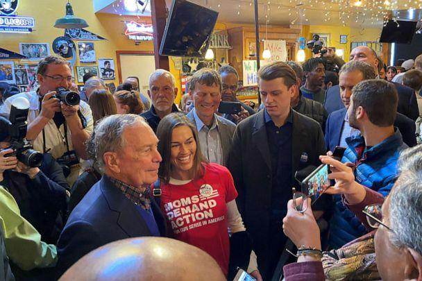 PHOTO: Democratic presidential candidate Michael Bloomberg is greeted at a campaign event in Oakland, Calif., Jan. 17, 2020. (Peter Henderson/Reuters)