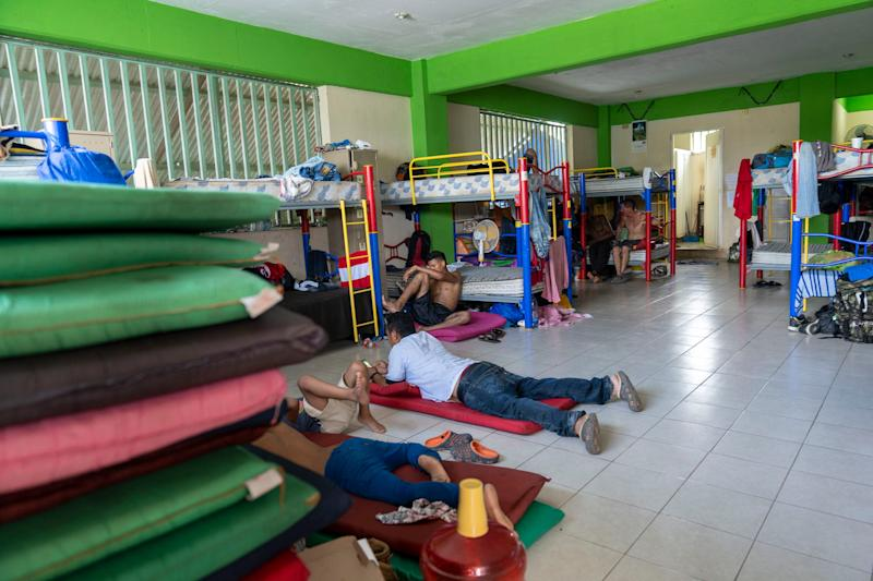 TAPACHULA, Mexico – Central American migrant families live in the Jesus the Good Shepard Shelter for Migrants while they wait for a transit visa to go north toward the United States.
