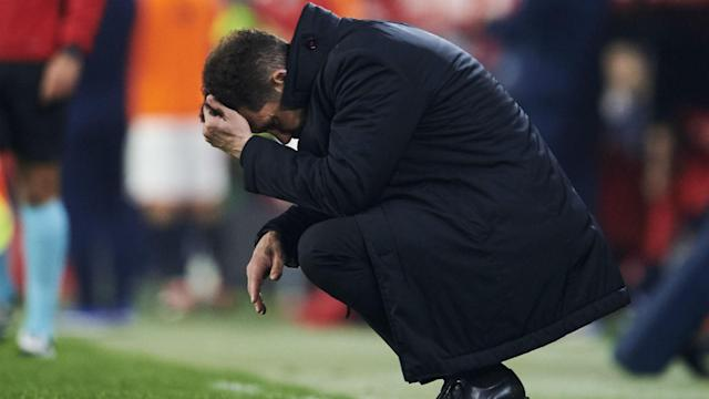 Atletico Madrid will take a concerning run of away results into next week's Europa League excursion to Arsenal.