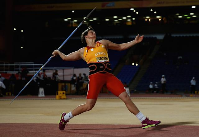 <p>Viljoen, a javelin thrower, will be competing in her fourth Olympics this summer. She failed to reach either the 2004 or 2008 finals and came just shy of medaling at the 2012 Games with a fourth-place finish. She said she was ostracised by friends and family after coming out in 2012. (Getty) </p>