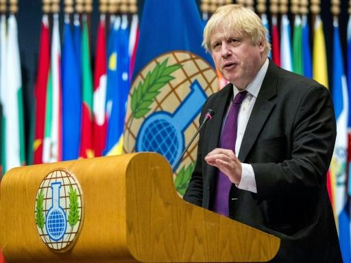 British Foreign Secretary Boris Johnson addressed a special session of the OPCW's top policy-making body in The Hague on Tuesday