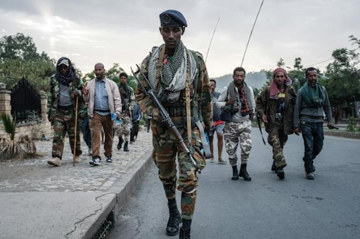 Tigrayan rebels seized the regional capital Mekele in late June in a stunning turnaround in the conflict (AFP/Yasuyoshi Chiba)