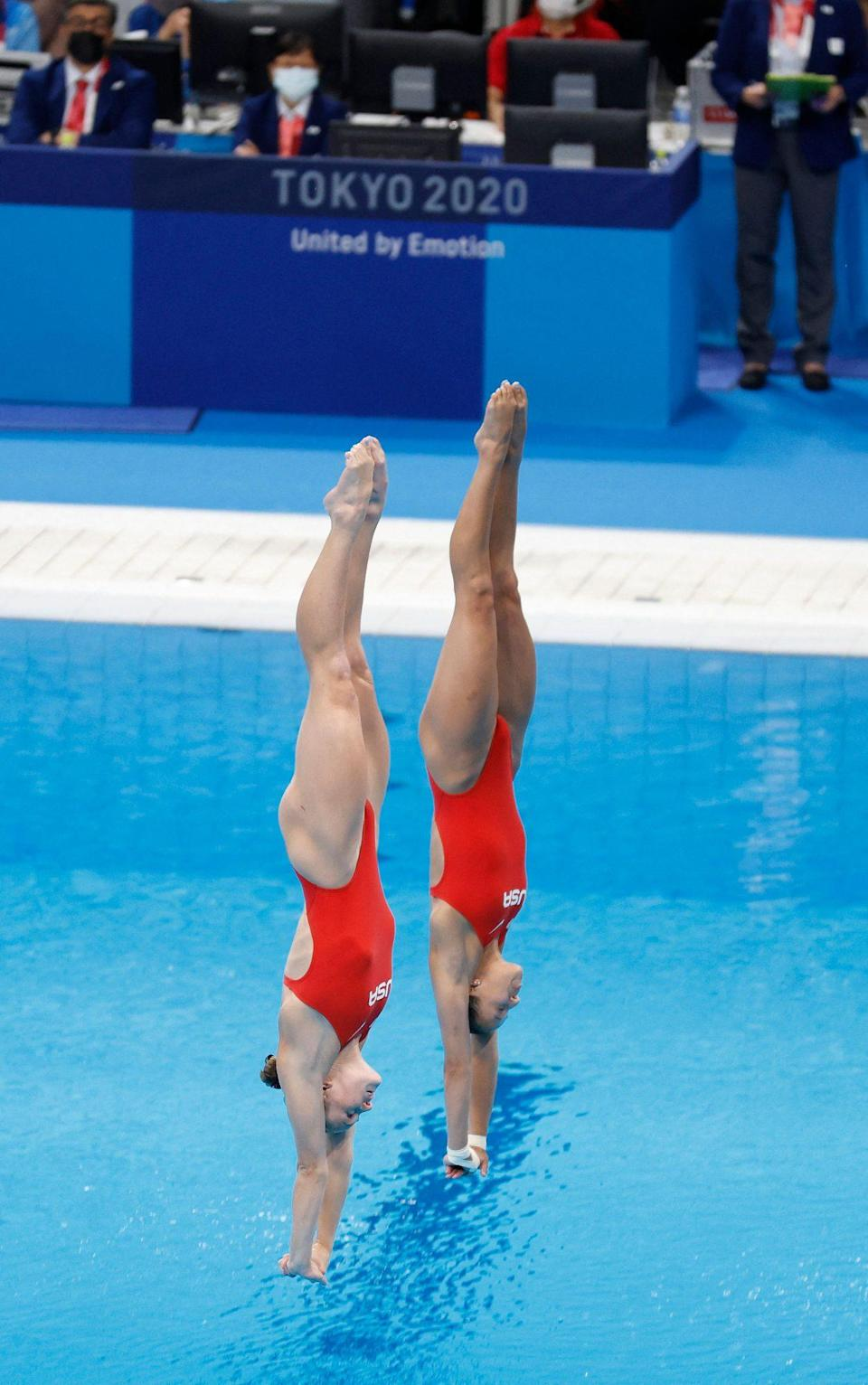 """<p>Biography: Parratto is 27 and Schnell is 22</p> <p>Event: Women's synchronized 10m platform diving</p> <p>Quote: Schnell: """"That last dive was probably one of the most nervewracking dives I've done in my entire career.""""</p>"""