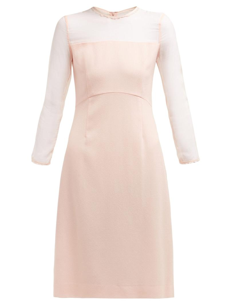 The Flavia wool-crepe midi dress that Meghan Markle wore for her first post-wedding appearance in May 2018 [Photo: Matches Fashion]