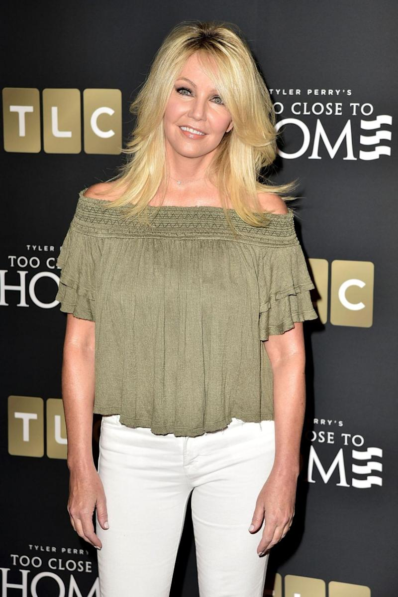 Heather Locklear has made a return to social media after she checked into a treatment facility, a week after she was arrested for felony domestic violence following an alleged incident with her boyfriend Chris Heisser. Source: Getty
