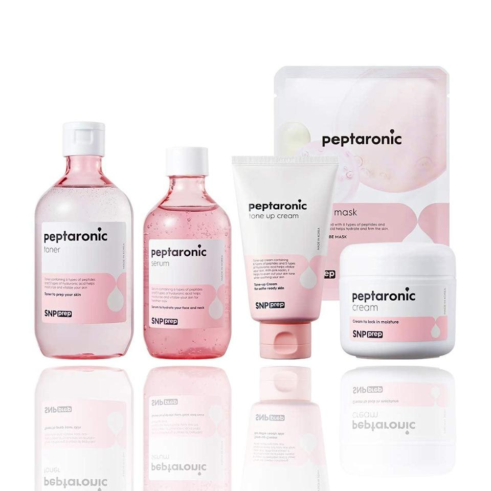 <p>Try out K-beauty with the <span>Peptaronic Complete Korean Skin Care Set</span> ($49).</p>