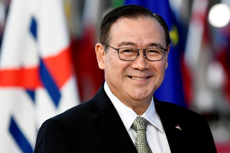 File Photo: Philippines' Secretary for Foreign Affairs Teodoro Locsin Jr. (Photo: REUTERS/Piroschka van de Wouw)