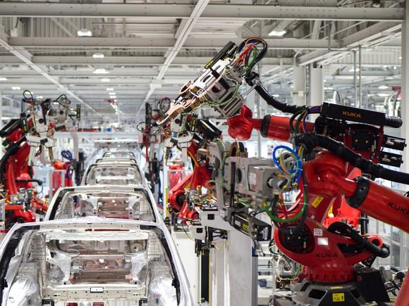 Tesla vehicle production at its Fremont factory