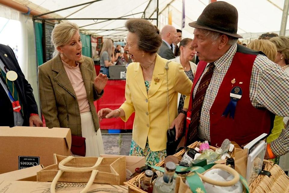 Anne and Sophie at the Westmorland County Show (Owen Humphreys/PA) (PA Wire)