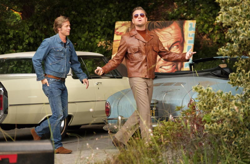 Brad Pitt and Leonardo DiCaprio star in ONCE UOPN A TIME IN HOLLYWOOD. (Sony Pictures)