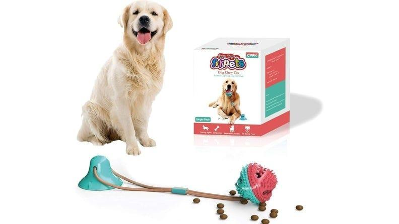 Your dog who loves tug-of-war will love playing with this.