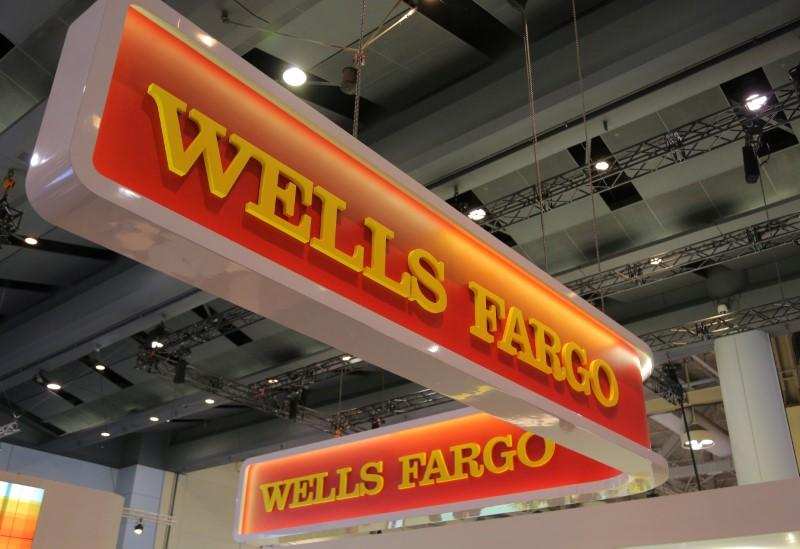 A Wells Fargo logo is seen at the SIBOS banking and financial conference in Toronto