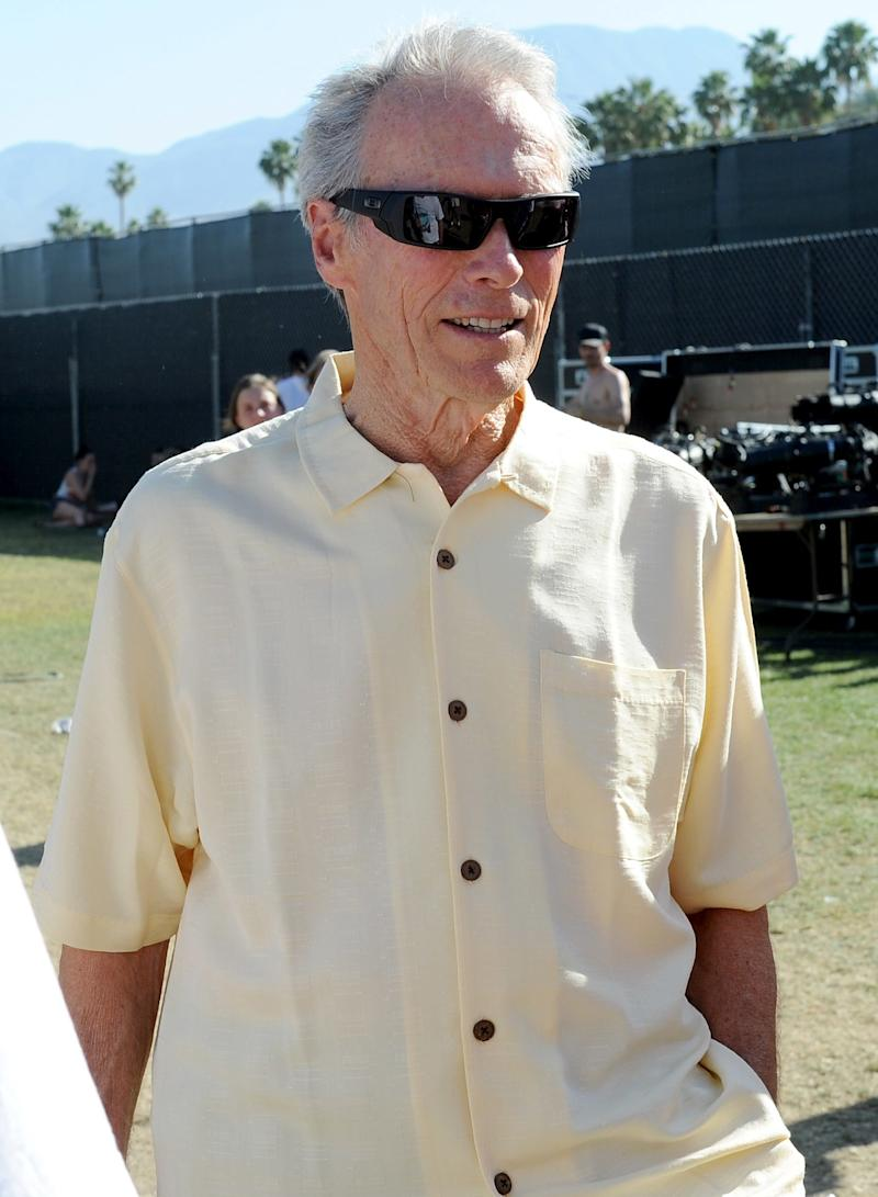 Clint Eastwood attends the Coachella Music Festival in Indio, California.