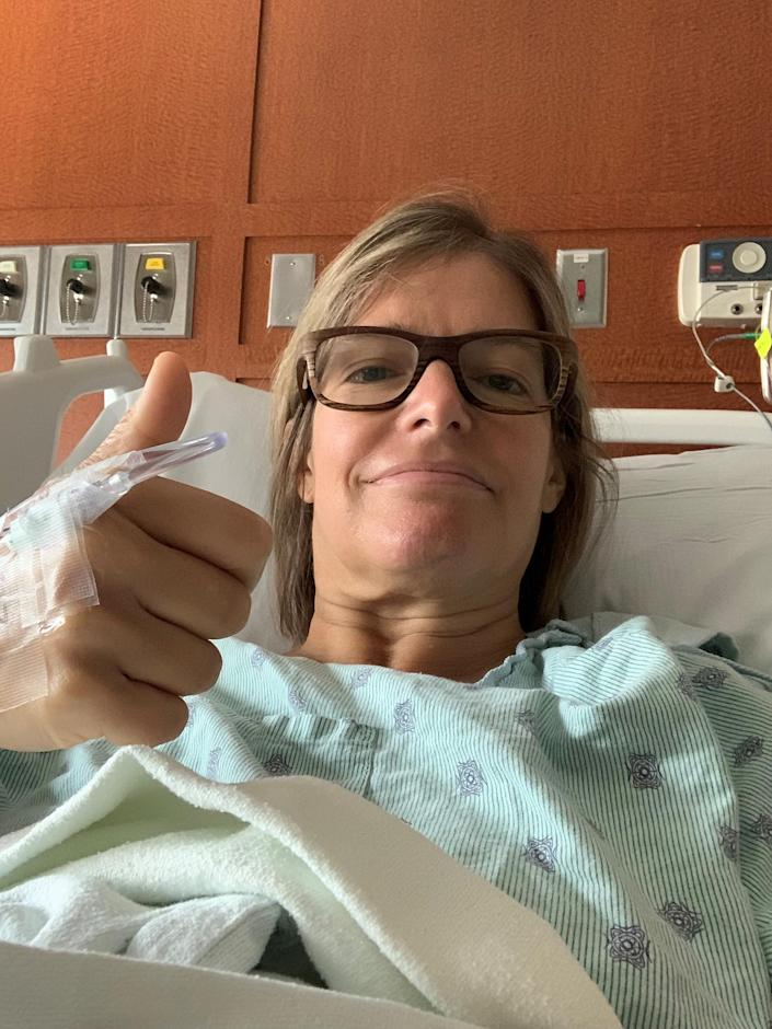 After learning she had a precancerous condition, Wargo underwent a hysterectomy to treat her condition. So far, there are no signs of cancer.  (Courtesy Jennifer Wargo)