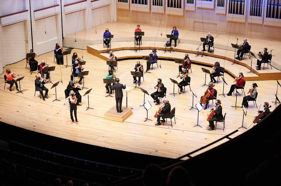 Charlotte Symphony will start requiring viewers to wear masks and provide proof of coronavirus vaccination or negative COVID tests at all indoor concerts.